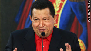 "Venezuela President Hugo Chavez said his Colombian counterpart, Alvaro Uribe, is ""crazed."""