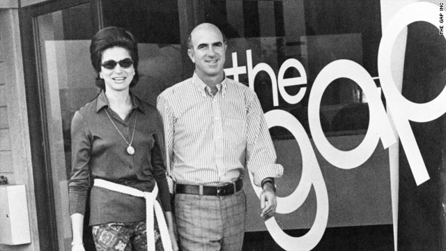 Donald and Doris Fisher outside a GAP store. They started collecting art in 1973, a few years after they founded GAP.