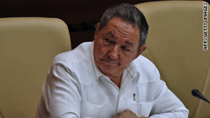 Cuban President Raul Castro said Sunday up to one million redundant state jobs would be eliminated.