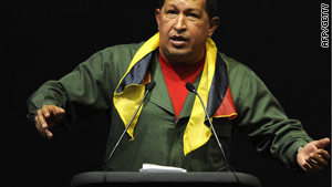 Venezuelan President Hugo Chavez mobilized troops in 10 districts near the Colombian border.
