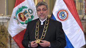 Paraguayan President Fernando Lugo is a former bishop of the Catholic Church.