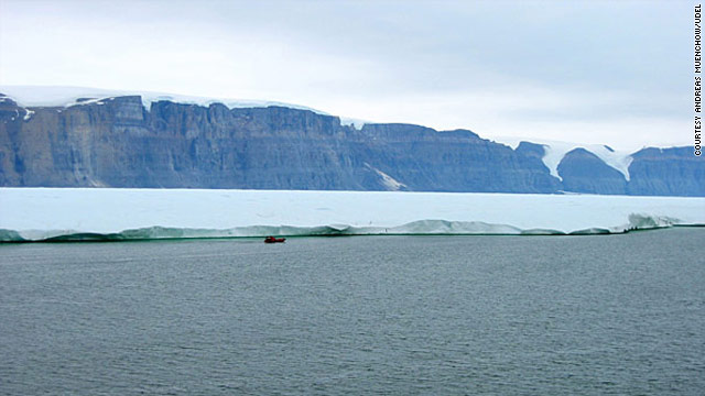 Greenland's Petermann Glacier in 2009. Researchers say a quarter of the ice shelf has broken away.