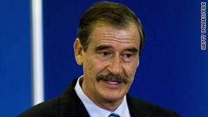 Former Mexican President Vicente Fox advocates weakening drug cartels by legalizing their market.