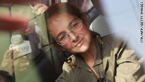 Lori Berenson, shown in a car after leaving prison in May, turned herself in to authorities Wednesday afternoon.