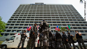 Gunmen kept 35 people hostage at the Intercontinental Hotel in Rio de Janeiro, Brazil, on Saturday.