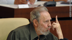 Fidel Castro addresses a special session of the Cuban Parliament on August 7, 2010.