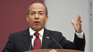 "Mexican President Felipe Calderon condemns the ""criminal and cowardly"" killing."