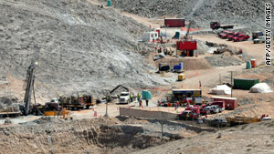 The Plan B drill being used to free the Chilean miners hit a snag when it struck a reinforcement beam.