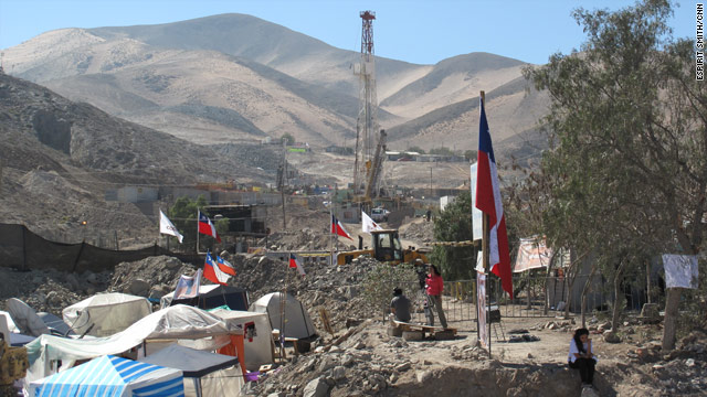 Camps have been set up in the Chilean desert, where three different rescue shafts are under way.