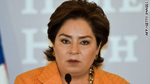 Mexican Foreign Minister Patricia Espinosa says the majority of weapons in her country come from the United States.