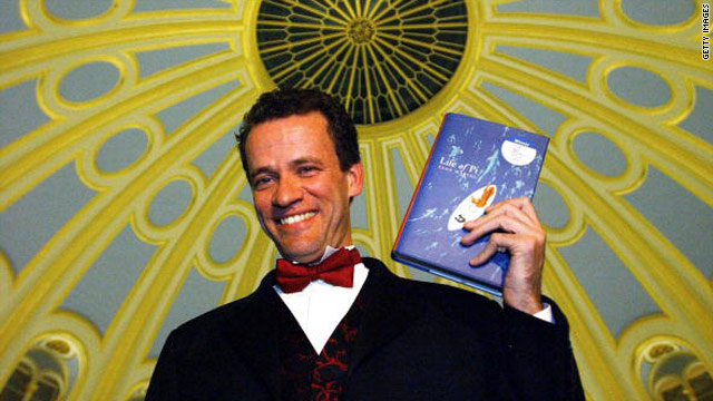 "Canadian author Yann Martel after winning the Booker for ""Life of Pi"" in 2002."