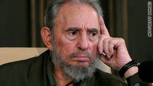 Former Cuban President Fidel Castro touched on familiar themes including the prospect of nuclear war.