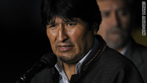Bolivian President Evo Morales apologized for his actions on the soccer field