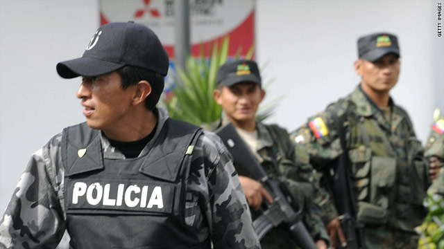 Soldiers patrol the streets of Quito after what President Rafael Corra called an attempted coup.