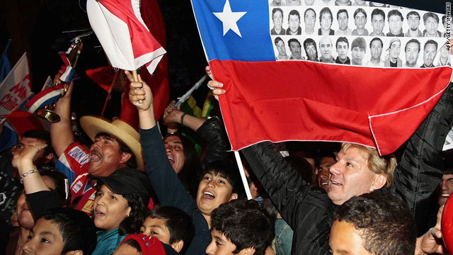 Chileans have turned the rescue effort to save the trapped miners into a national celebration.