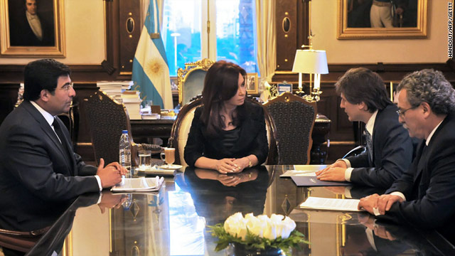 Argentine President Cristina Fernandez on November 1 in Buenos Aires during her first official duties after her husband's death.