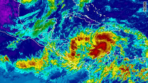 The National Hurricane Center says Tomas could dump 5 to 10 inches of rain over much of Haiti.