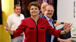 """We don't believe that war is the method to solve conflicts,"" says Brazil President-elect Dilma Rousseff."