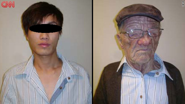 An Asian in his 20s boarded an Air Canada flight disguised as an elderly man, the Canadian Border Services Agency says.