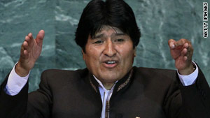 Evo Morales had a degenerative problem with a tendon in his left knee causing him pain.