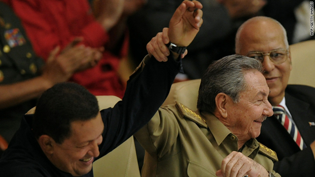 Cuban President Raul Castro and Venezuelan President Hugo Chavez mark the 10th anniversary of the Bolivarian Alternative for the Americas (ALBA) on Monday.