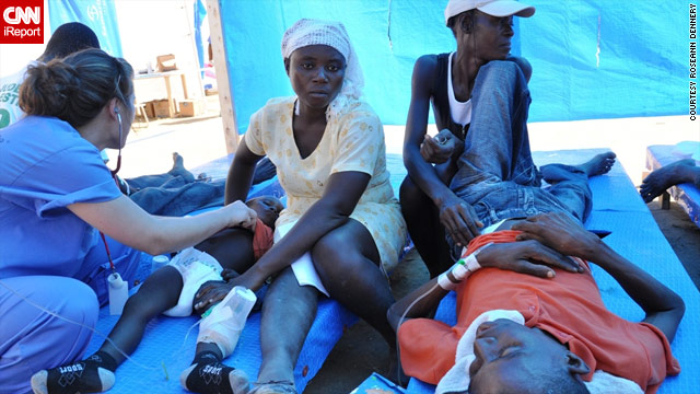 Boys are treated for cholera Thursday at a Samaritan's Purse medical clinic in the Haitian town of Bercy.