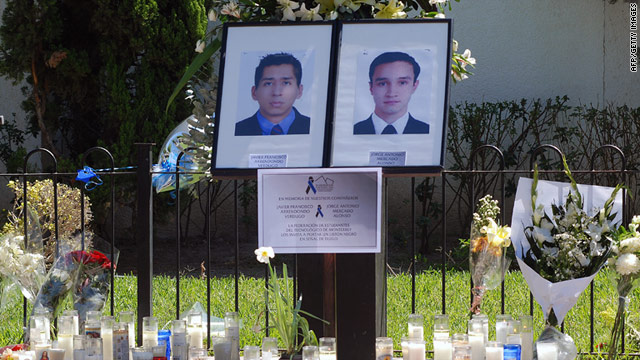 Two graduate students at Tecnol�gico de Monterrey were killed in crossfire between cartel gunmen and police in March.