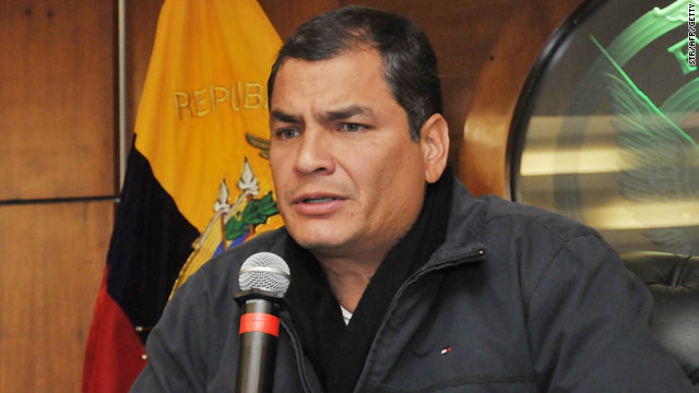 "President Rafael Correa said the declaration made by the deputy foreign minister was ""spontaneous"" and personal in nature."