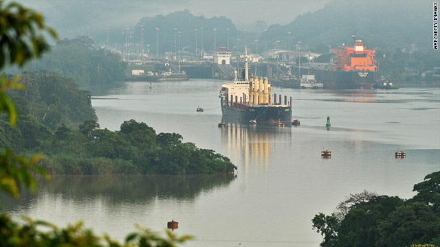 The United States and China are the top users of the Panama Canal, according to the CIA Factbook.