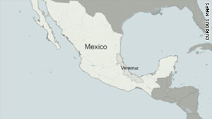Veracruz is about 300 km (195 miles) from Mexico City.