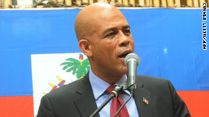 Michel Martelly alleges the first round of presidential election -- in which he officially finished third -- was tainted by fraud.