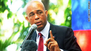 "Michel Martelly has called for Haiti's electoral council to be dumped. ""We do not trust that process,"" he said."