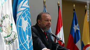 Francisco Dall'Anese is the head of the International Commission Against Impunity in Guatemala.