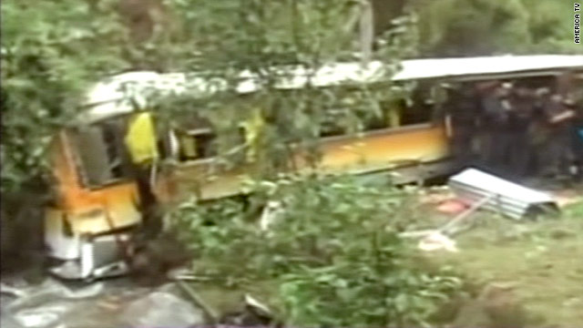 A bus carrying more than 50 passengers in Peru has crashed into a river killing at least 17 people.