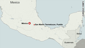 The cause of the explosion in San Martin Texmelucan, in Puebla state, is under investigation.