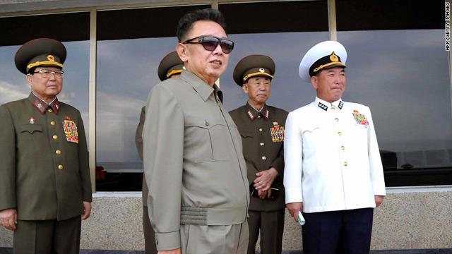 An undated photo, released September 13, shows North Korean leader Kim Jong Il inspecting the Korean People's Army.
