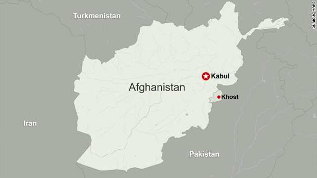 The bomber came to the base camp in Khost near the Pakistan border, a senior U.S. official said.