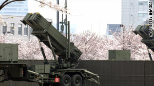 Advanced Patriot air defense missile system deployed by Japanese Air Self Defense Forces.