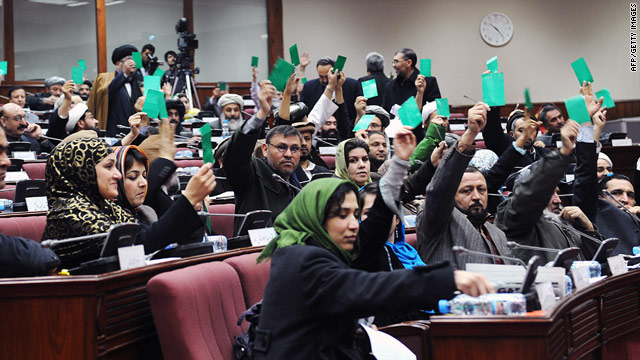 Afghan parliament members take a procedural vote Saturday before voting on President Hamid Karzai's Cabinet appointments.