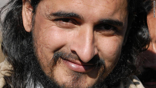 Sources say Pakistani Taliban leader Hakimullah Mehsud, here in November 2008, was injured in a suspected U.S. drone strike.