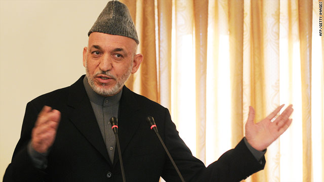Hamid Karzai is under pressure to establish legitimacy for his administration.