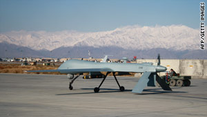 A U.S. Predator drone is shown at Bagram Air Base in Afghanistan in November.