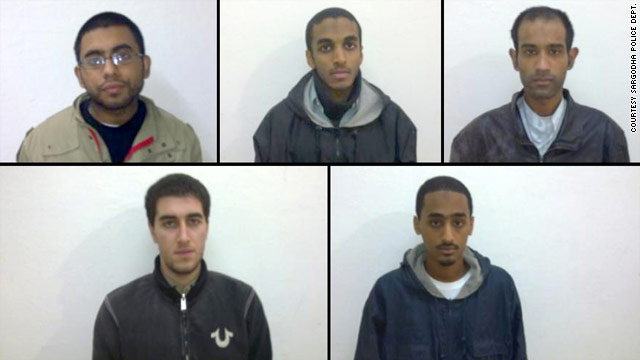 The five men -- two Pakistani-Americans, two Yemeni-Americans and an Egyptian-American -- were arrested in December.