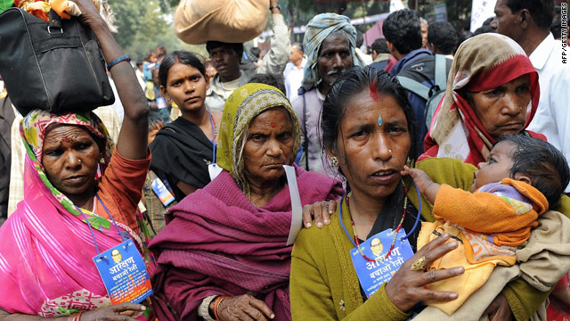 Analysts say the declaration of a new faith is likely to be a psychological boost for Dalits, pictured in a 2009 file photo.