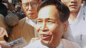 Tin Oo pictured in a file photo dated 2002.