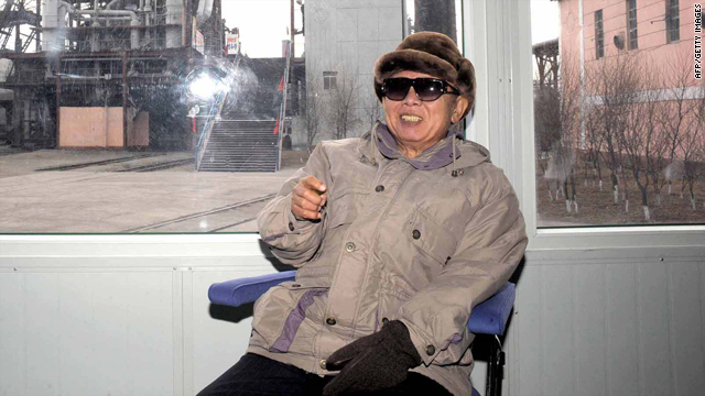 This undated picture, released from North Korea's official Korean Central News Agency on December 19, 2009, shows Kim Jong-il inspecting the Kimchaek Iron and Steel Complex at Kimchaek city in North Hamgyong province.