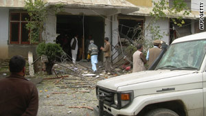 World Vision offices were badly damaged by the attack.