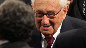 Former U.S. Secretary of State Henry Kissinger is recovering after he was briefly hospitalized for stomach pains.
