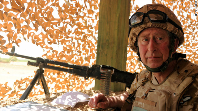 Britain's Prince Charles spent a night at a military base in Helmand province.