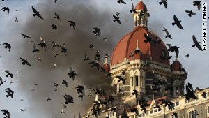The Taj Mahal Palace hotel was one of several targets of the nine  gunmen in November 2008.